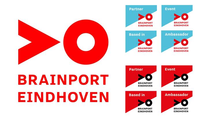 Logo and partner logo variations for Brainport Eindhoven.