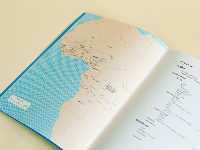 I designed a map to locate every tribe featured in the book. Current African borders are indicated.