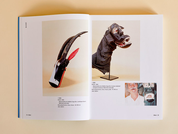 The book features some pictures of Danquin's playing with his pieces that we found in his photo books.