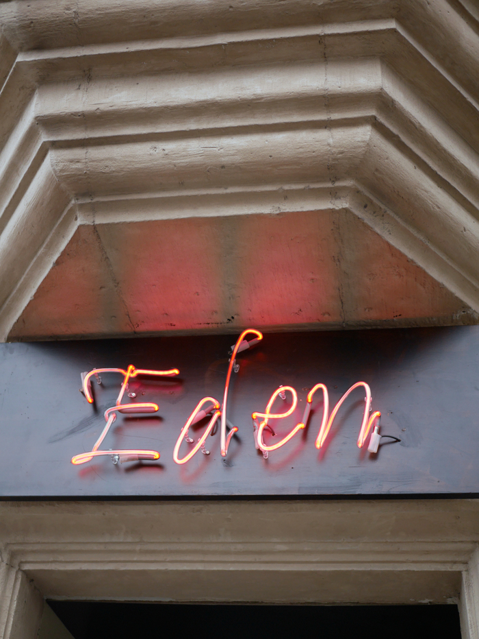Neon sign, photographed in March 2019.
