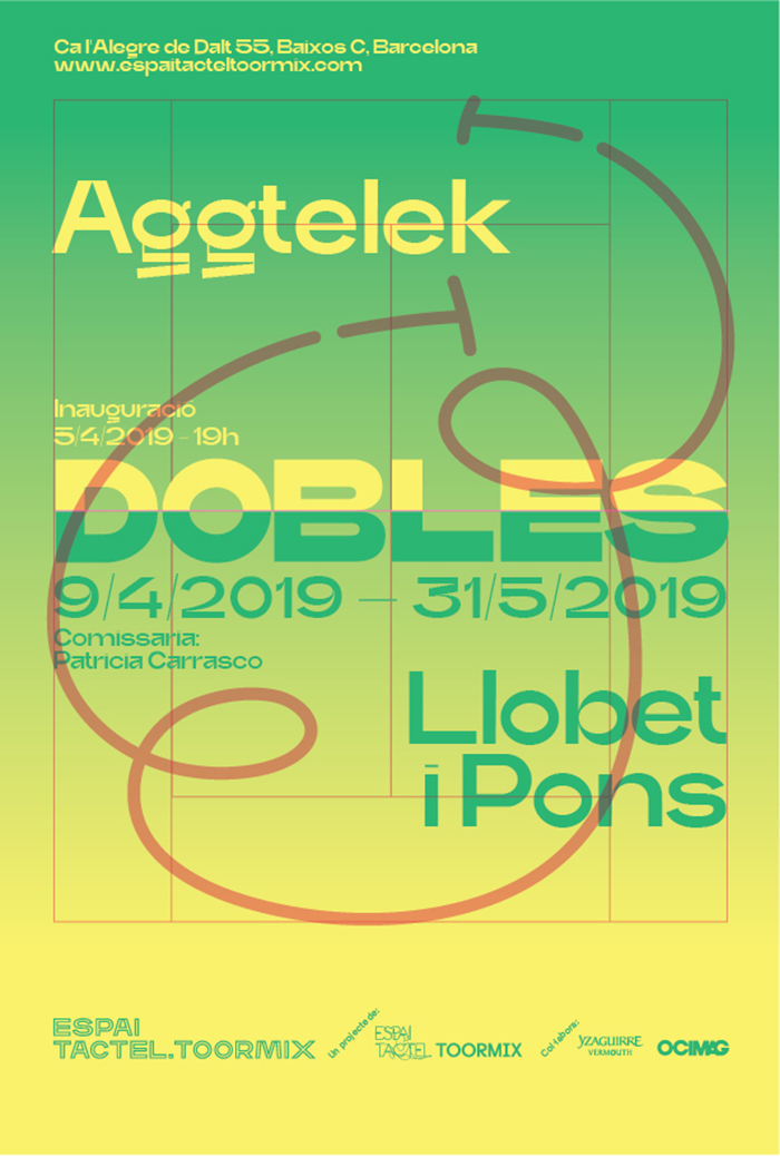 Poster for the third exhibition, Dobles.