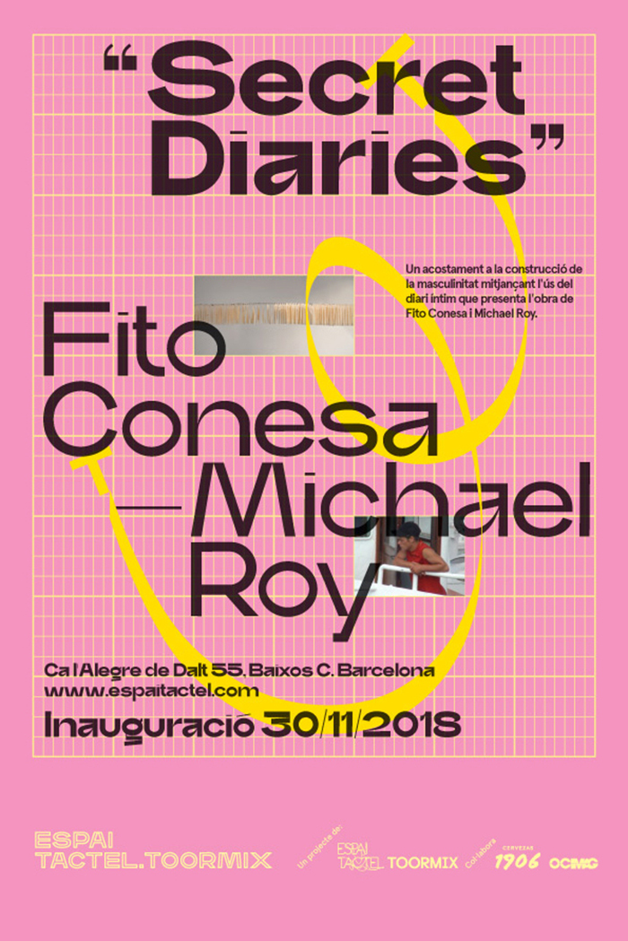 Poster for the first exhibition, Secret Diaries.