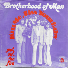 "Brotherhood of Man – ""Kiss Me, Kiss Your Baby"" international single covers"