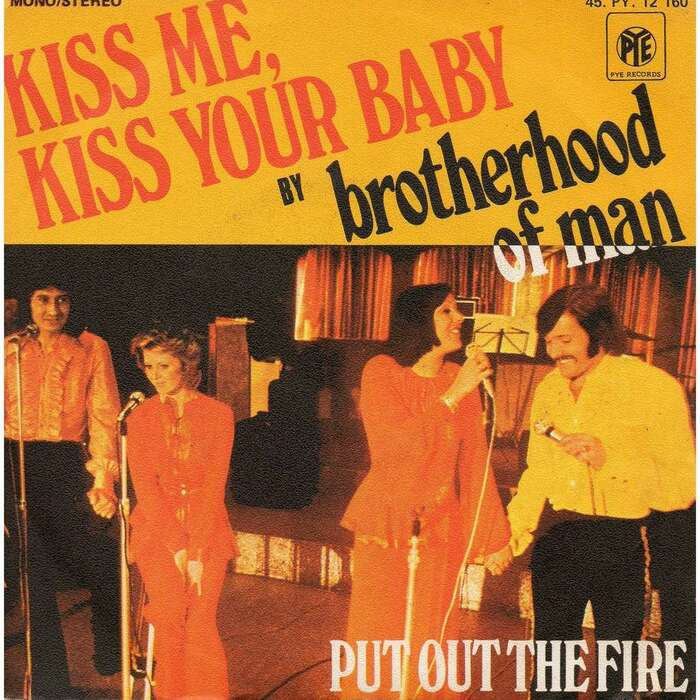 "Dutch sleeve with B-side ""Put Out The Fire"", ft.  and , both available from Letraset at the time."