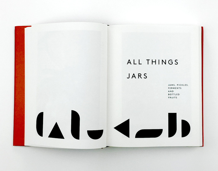 Chapter opening. The geometric sans used in all caps for titles, headings, page numbers and more is .