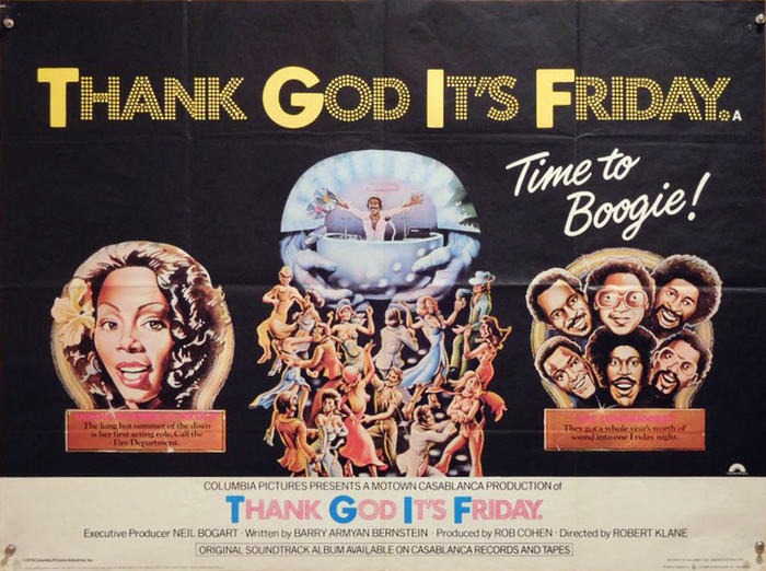 UK quad movie poster. The initials here are rendered in solid Futura.