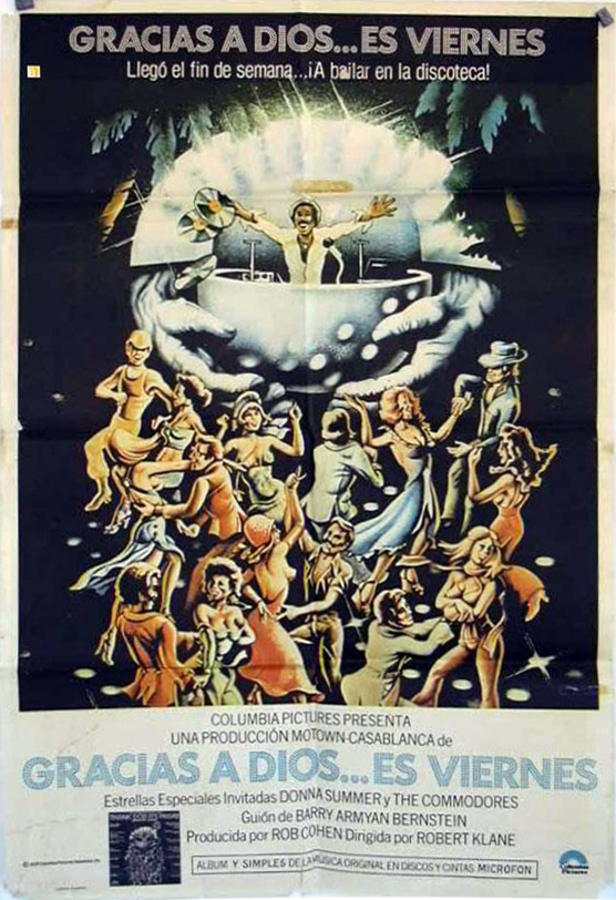 Gracias A Dios… Es Viernes – the Argentinian poster uses a more direct translation of the title and does without handwriting.