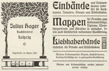 Julius Hager ads (1902–04)