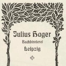 Julius Hager ads (1902–04)