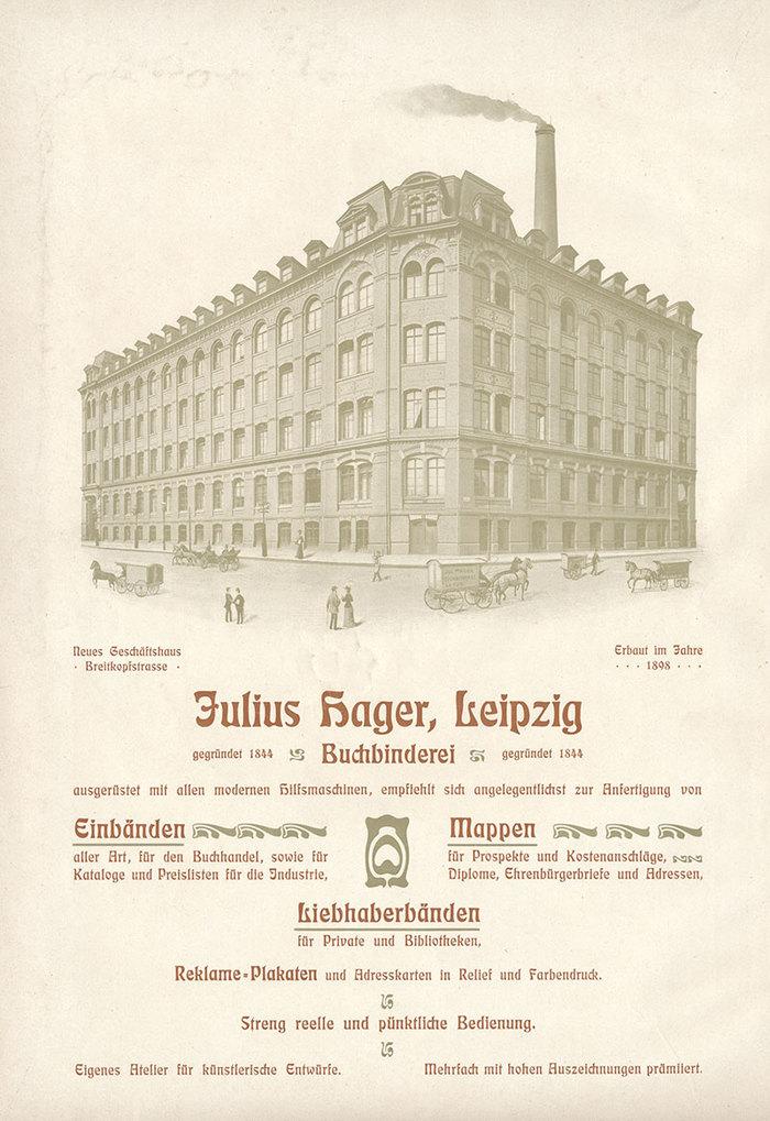 Full-page ad from the 1902 edition of Die Graphischen Künste der Gegenwart, a compilation of Jugendstil art and printing.
