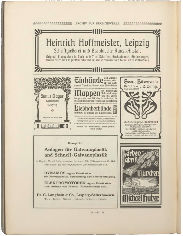 Julius Hager ads (1902–04) 2