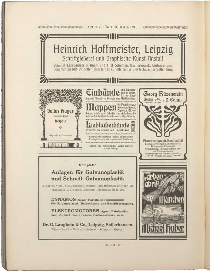 Julius Hager ads (1902–04) 2