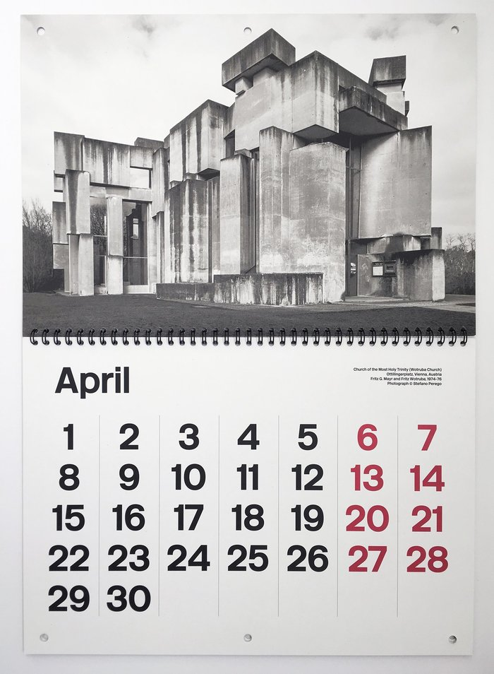 Brutalist Calendar 2019 2