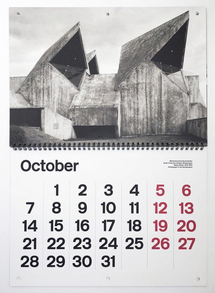 Brutalist Calendar 2019 3