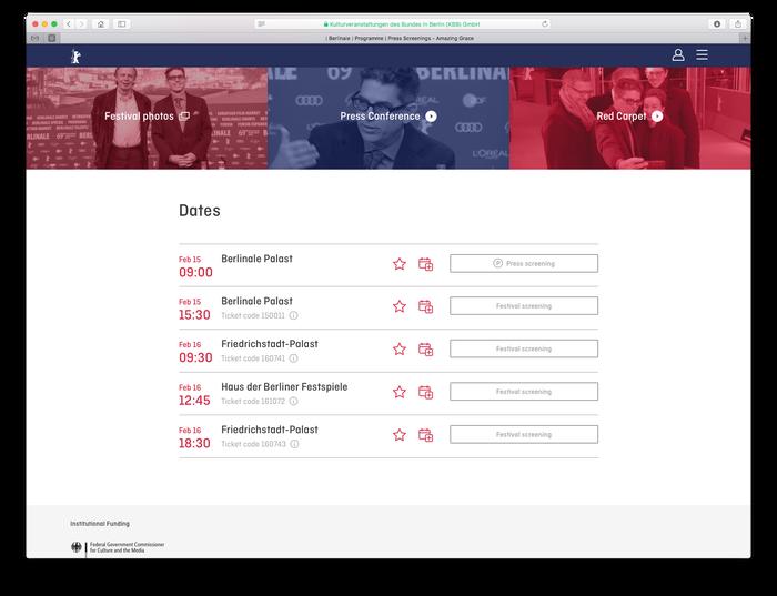Berlinale visitor website (2018) 3