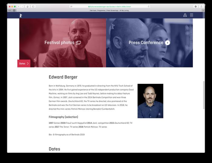 Berlinale visitor website (2018) 4