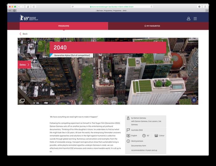 Berlinale visitor website (2018) 2