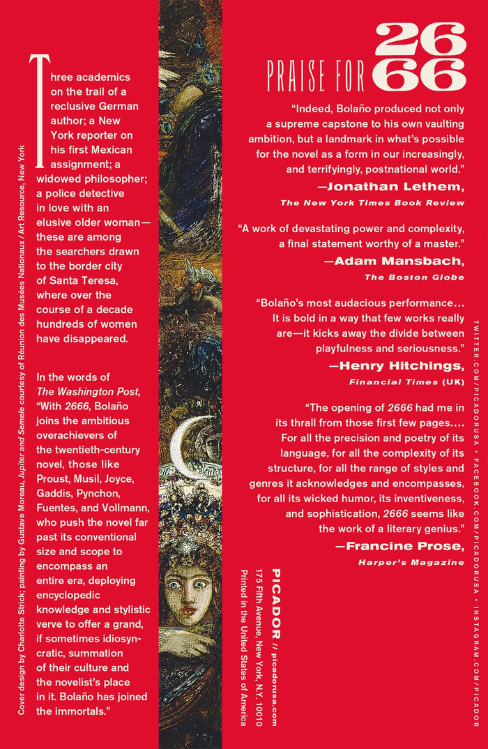 Back of vol. 1 of the paperback edition. The blurbs are set in various styles from Akzidenz-Grotesk.