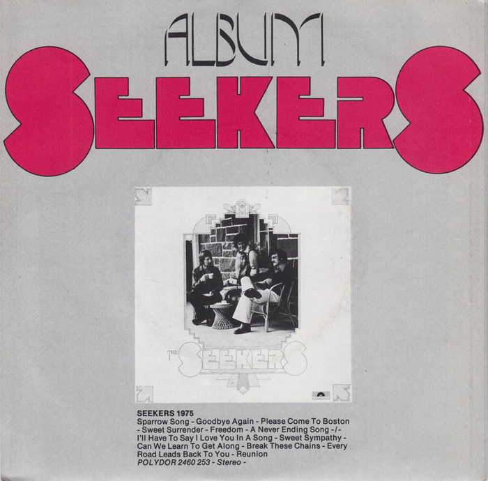 """The Seekers – """"Sparrow Song"""" Dutch single cover 2"""