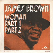 """James Brown – """"Woman"""" Belgian and French single covers"""