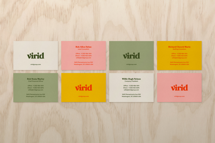 Virid's business cards