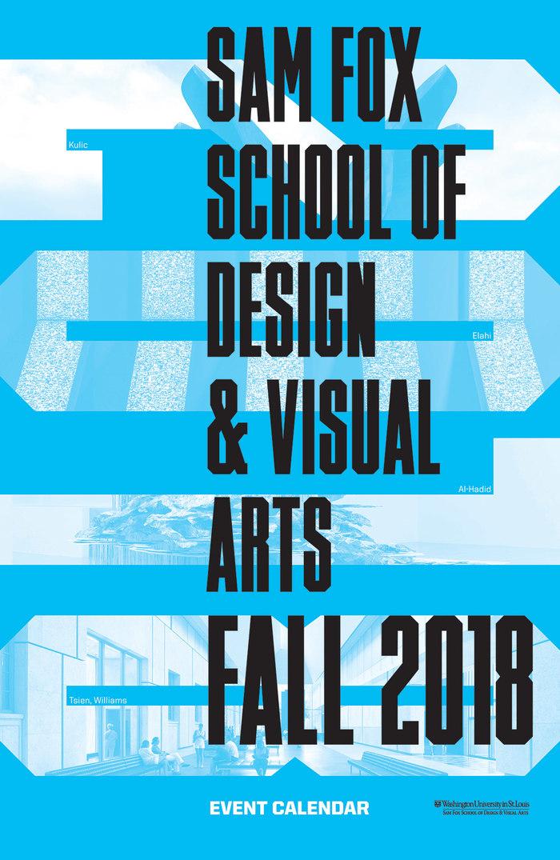 Sam Fox School Fall 2018 Calendar 2