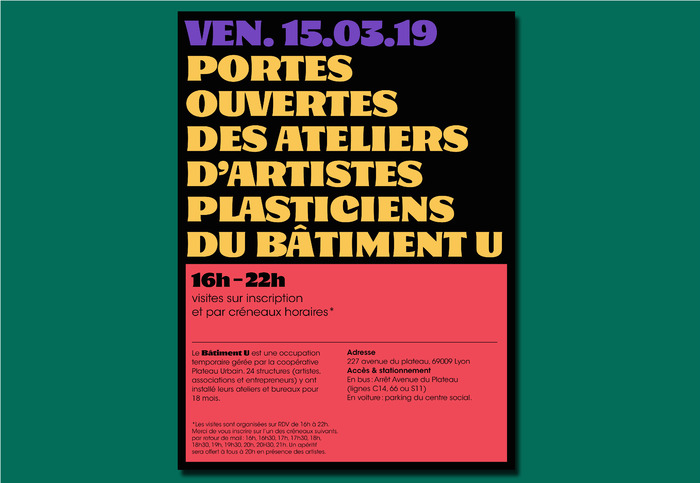 Open day invitation Bâtiment U 1