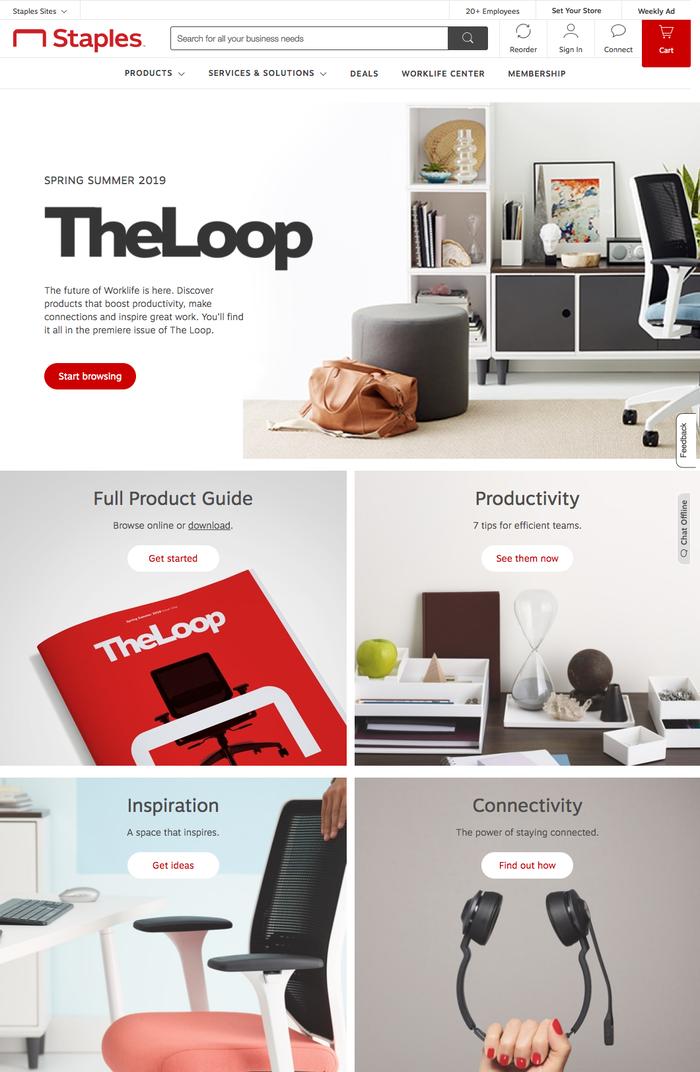 Website detail (The Loop page)