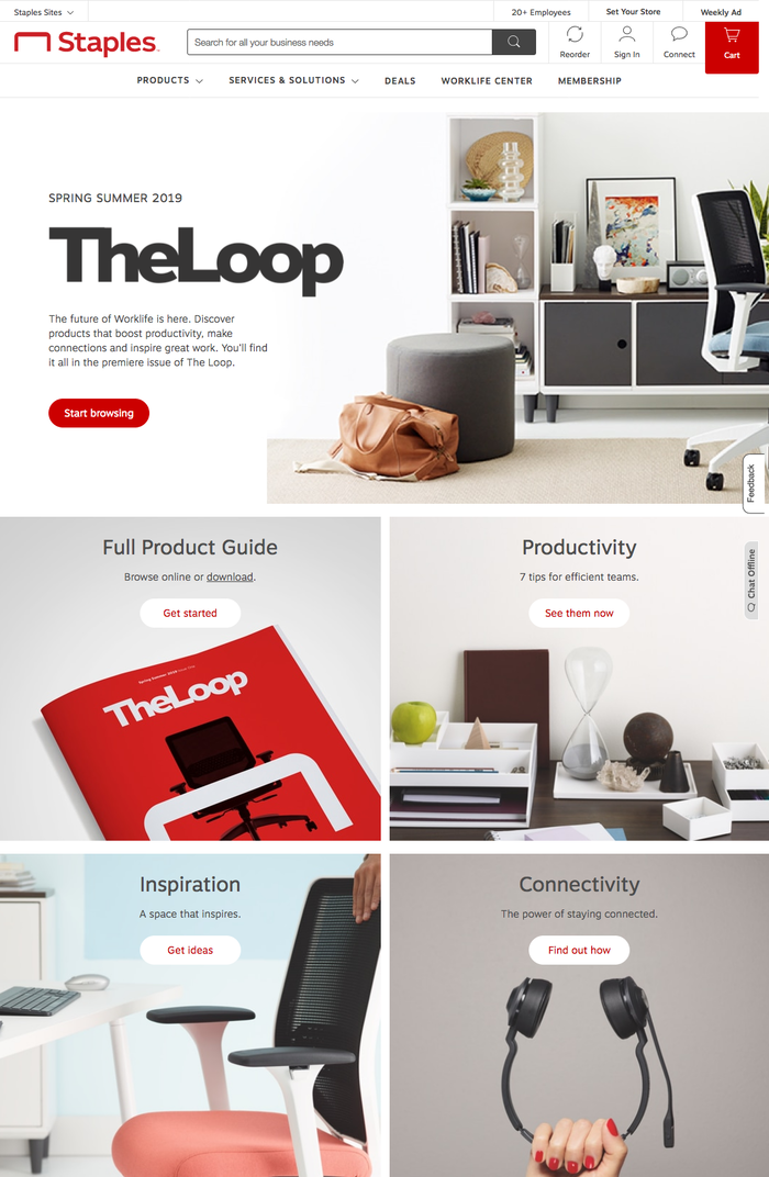 Website detail (The Loop page)