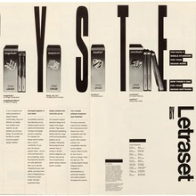 "Letraset ad: ""The Graphic Design Software System"""