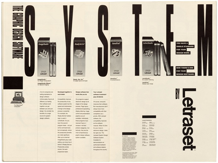 "Letraset ad: ""The Graphic Design Software System"" 1"
