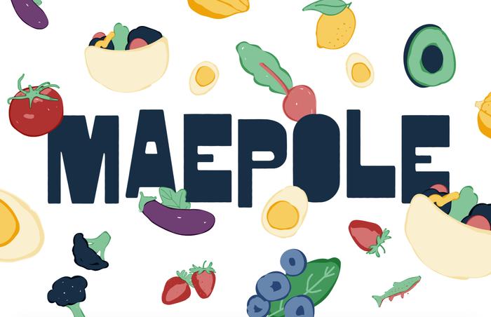 Maepole restaurant logo, sign, menu, website 5