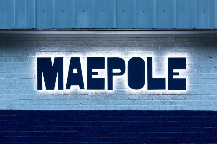 Maepole restaurant logo, sign, menu, website 11