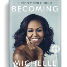 <cite>Becoming</cite> by Michelle Obama book cover