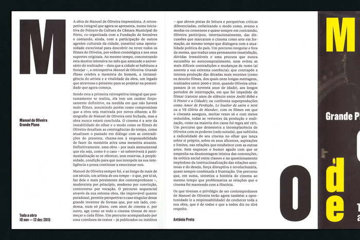Manoel de Oliveira's Grande Plano retrospective 6