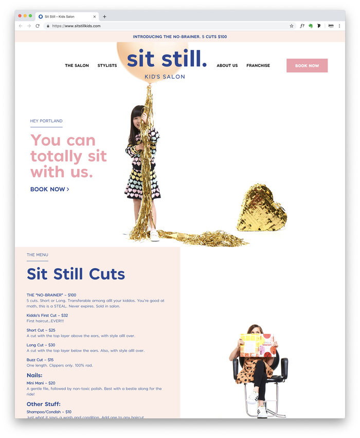 Sit Still Kid's Salon 4