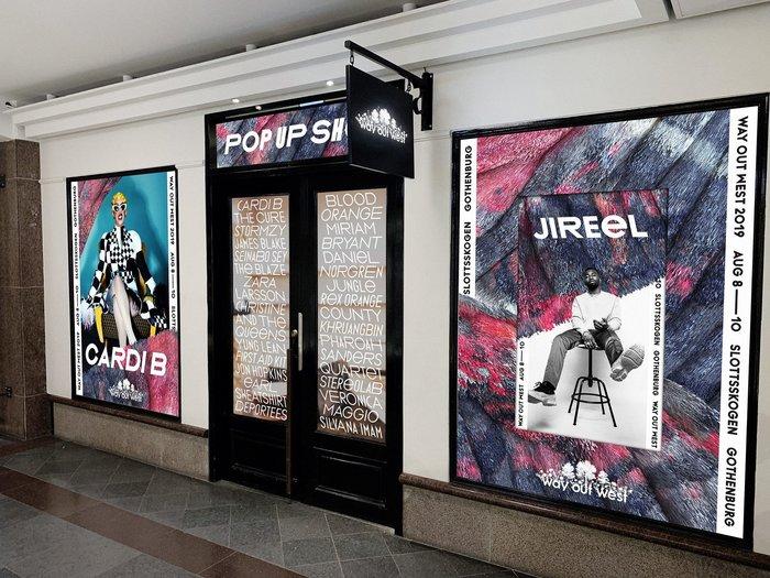 Pop-up shop in Stockholm