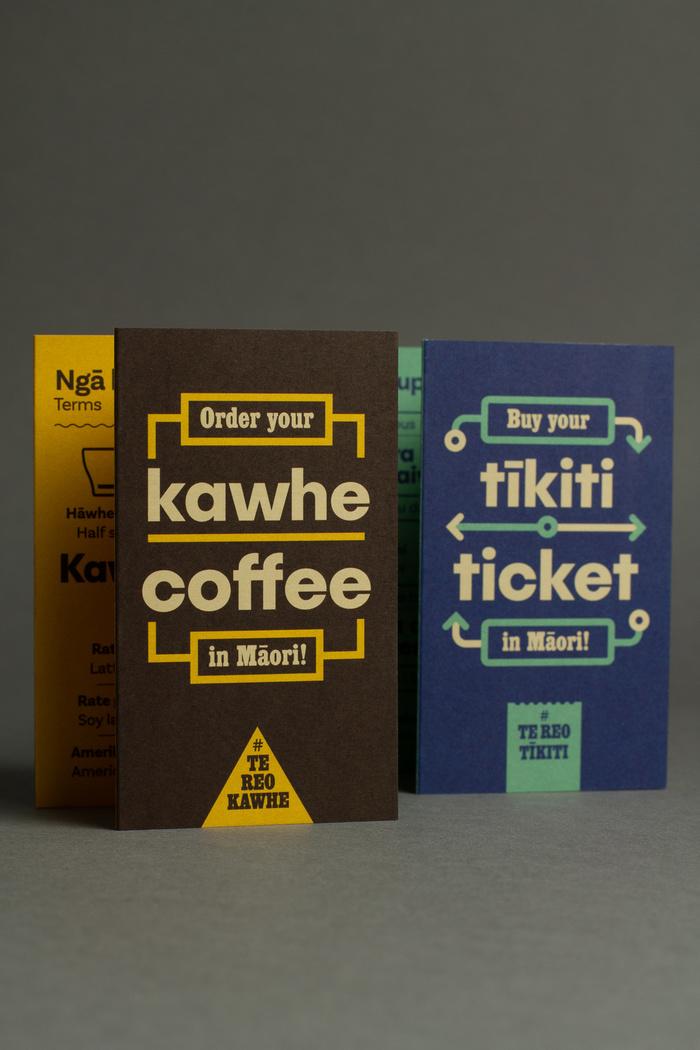 Order your kawhe / Buy your tīkiti in Māori 6