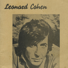 <cite>Leonard Cohen</cite> lyrics booklet