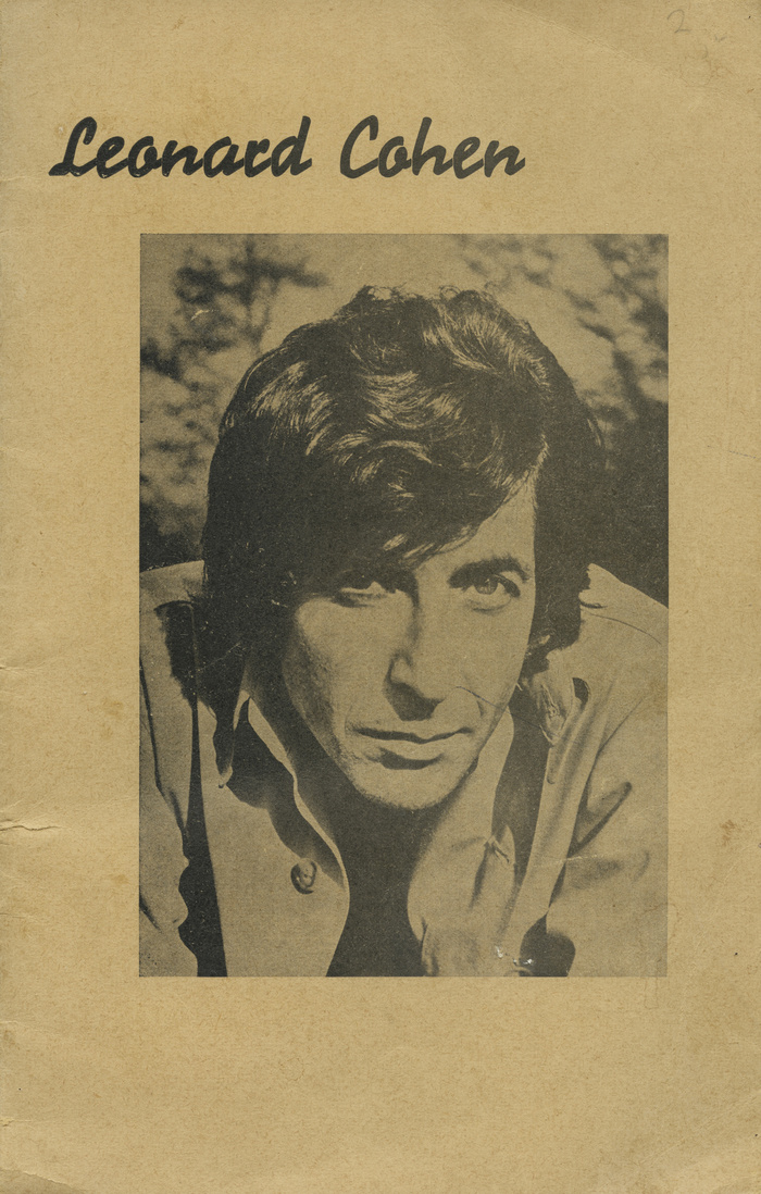 Leonard Cohen lyrics booklet 1