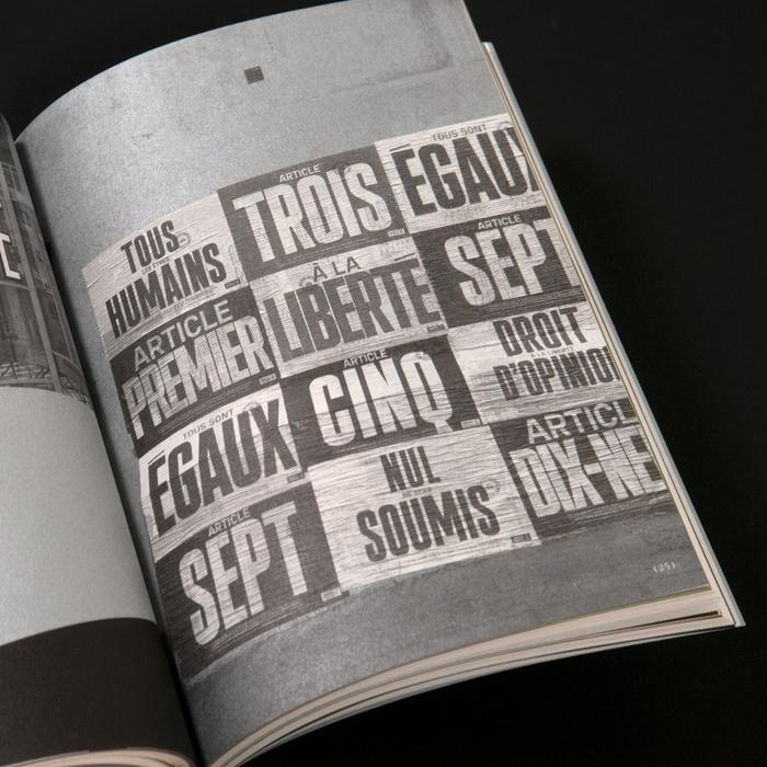 Posters for Les uns envers les autres using Plaak by Damien Gautier.
