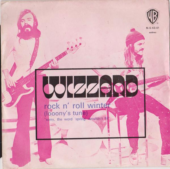 """Wizzard – """"Rock N' Roll Winter (Looony's Tune)"""" Portuguese single cover"""