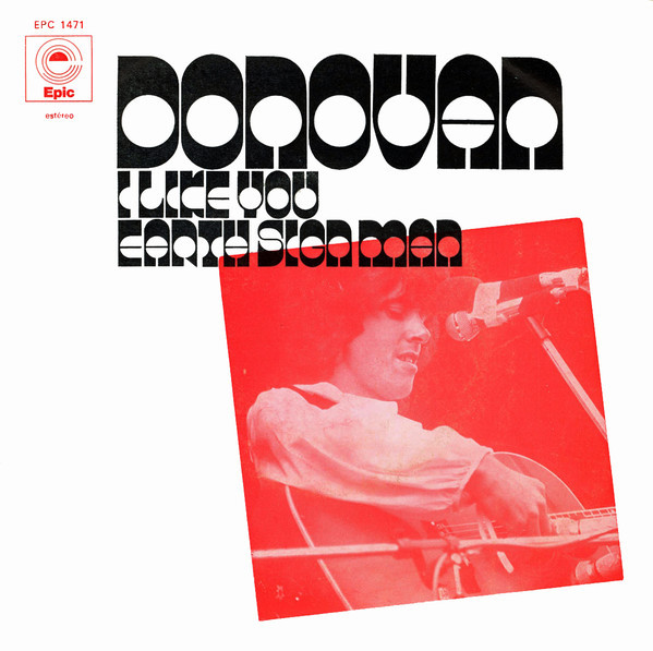 "Donovan – ""I Like You"" / ""Earth Sign Man"" and ""Maria Magenta"" Portuguese single cover 1"
