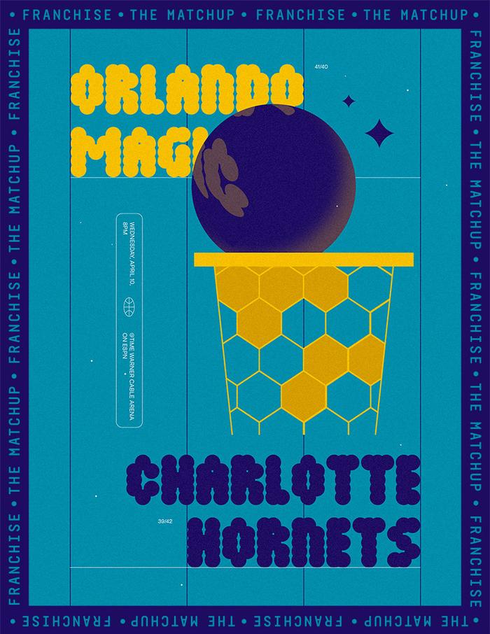 Orlando Magic vs. Charlotte Hornets Matchup poster