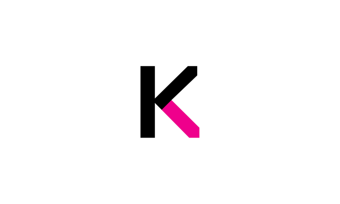 The downward diagonal stroke of Navigo's uppercase K is mirrored in the little writing pen in the identity for Coopywriters.ru