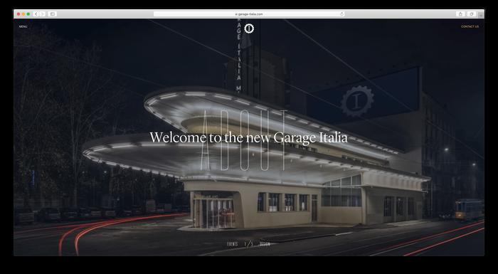 Garage Italia website 1
