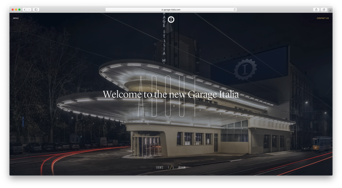 Garage Italia website 1