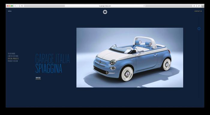 Garage Italia website 2