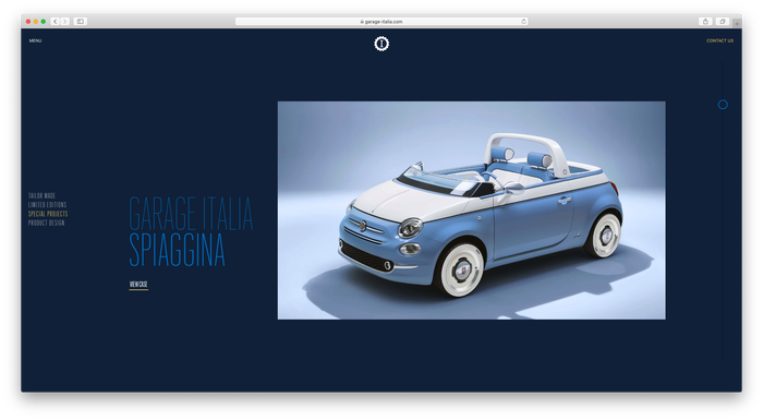 Garage Italia website 2