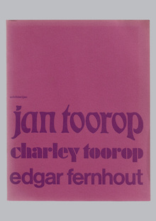 Jan Toorop, Charley Toorop & Edgar Fernhout exhibition catalog